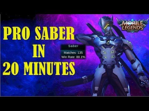 Mobile Legends HOW TO PLAY SABER LIKE A PRO!  COMPLETE GUIDE