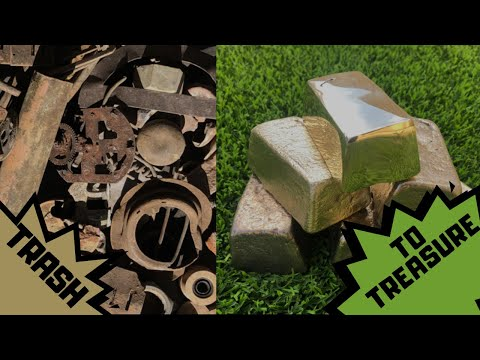MELTING  BURIED METALS - REAL TRASH TO TREASURE Copper Brass and more