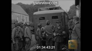 GERMAN SOLDIERS SURRENDERING TO US FORCES NEAR AVRANCHES, FRANCE  - LMWWIIHD321