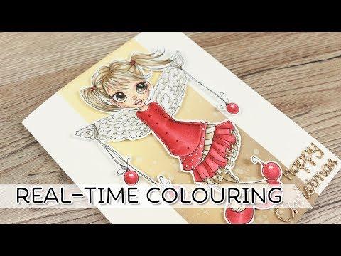 Christmas Angel Real Time Colouring
