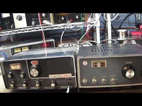 Palomar Skipper 73C radio with matching Palomar 200X amp