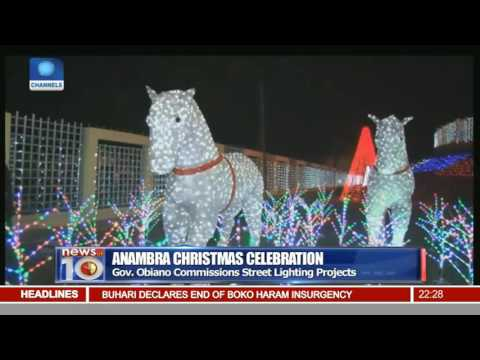 Anambra Christmas Celebration: Gov Obiano Commissions Street Lighting Projects