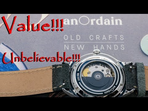 Best Dress Casual Watch At Any Price!  AnOrdain Model1 - Handmade Enamel Dial From Scotland!
