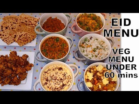 EID MENU || Indian Guest Menu Under 60 Mins || 8 Dishes In One Hour || Small Party Food (7-8 People)