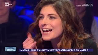 Maria Chiara Giannetta, il nuovo 'capitano' di Don Matteo - La Vita in Diretta 22/02/2018