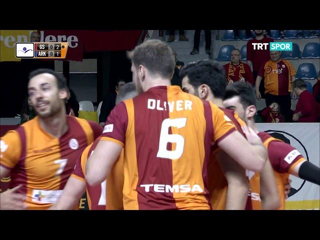 2018 - 2019 Efeler Ligi 19.Hafta Galatasaray - Arkas Spor