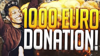 €1.000,- EURO DONATION REACTION!!!
