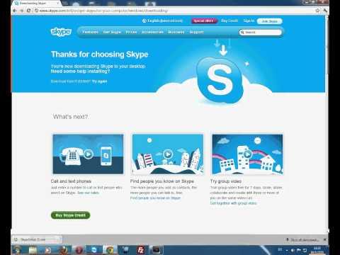 วิธีการติดตั้ง Skype