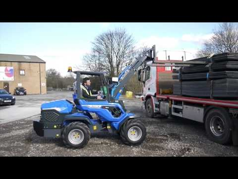Trackway Loading with the MultiOne Pallet Fork Attachment