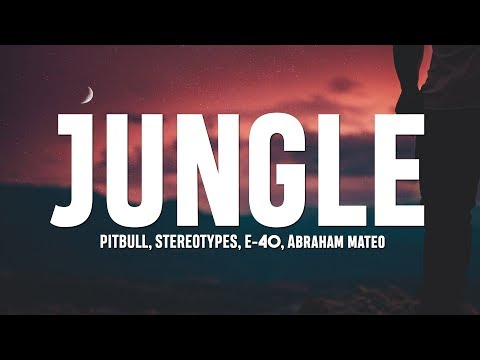 Pitbull, Stereotypes - Jungle (Lyrics) Ft. E-40, Abraham Mateo