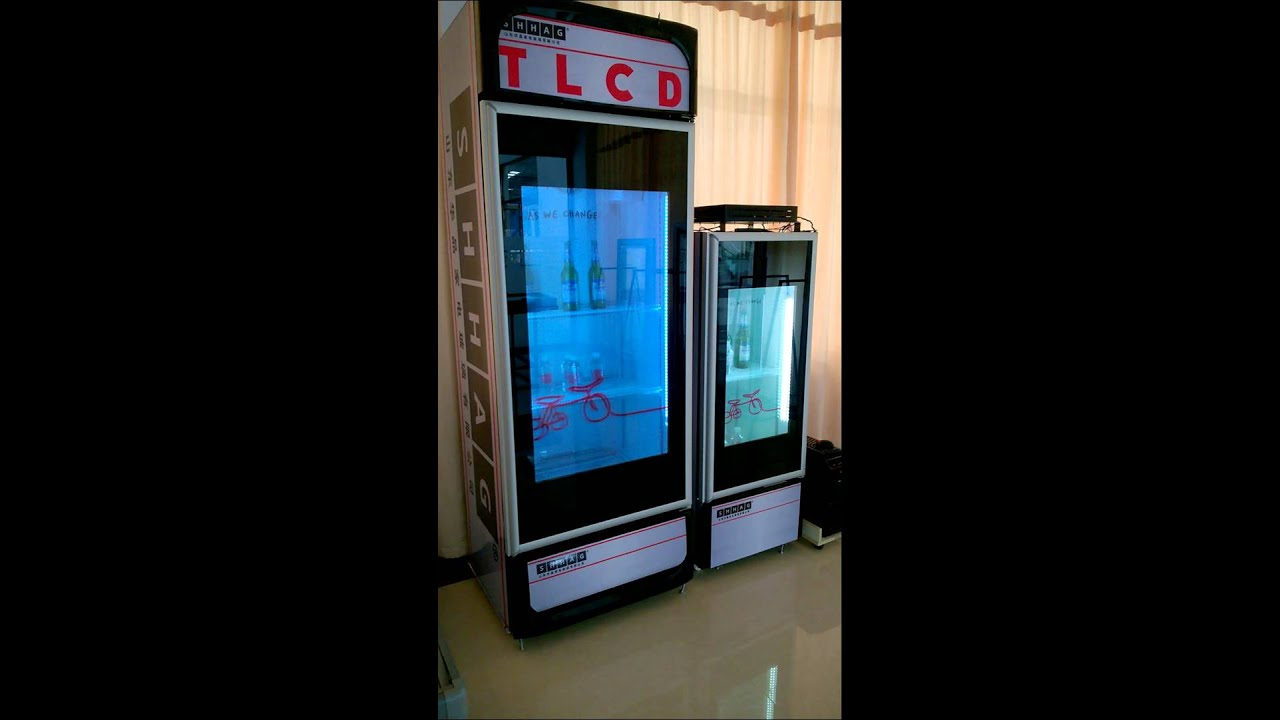 47 Inches Transparent Lcd Display Screen Fridge Freezer By