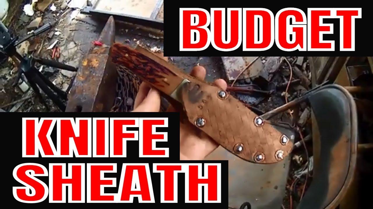 DIY Leather Knife Sheath Super Easy!! - YouTube