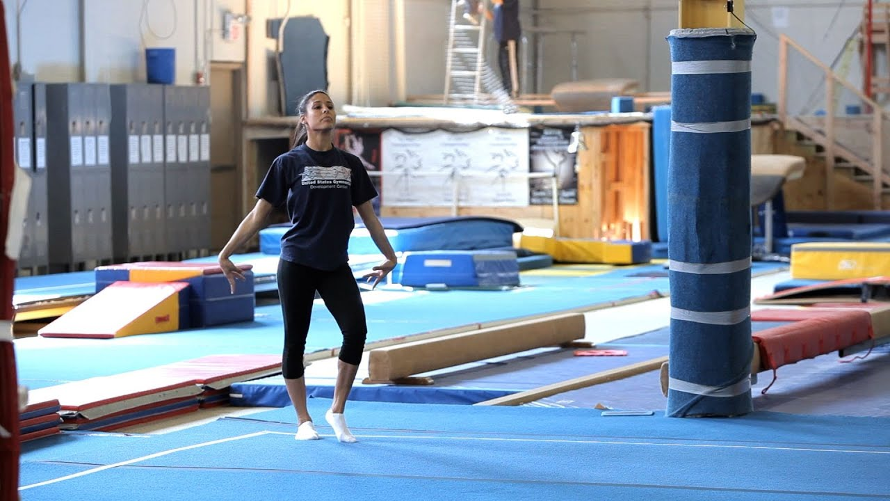 c8f0b292690 How to Do a Gymnastics Floor Routine   Gymnastics Lessons - YouTube