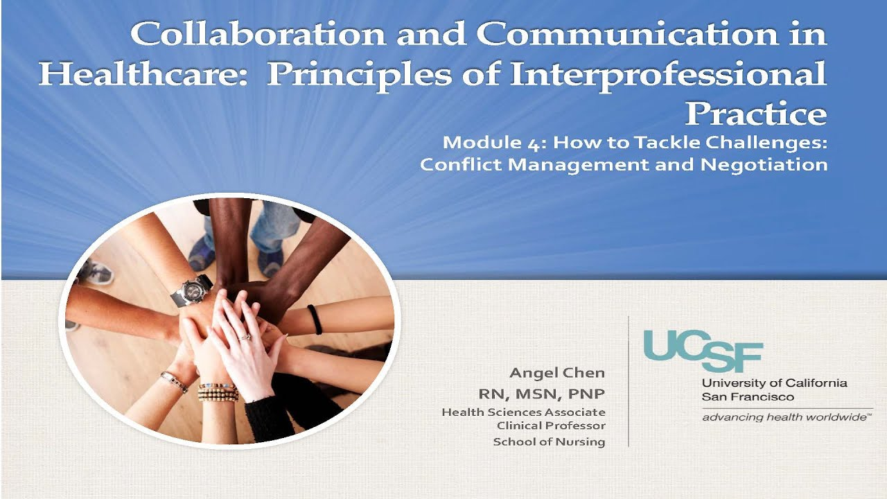 Module 4, Segment 1: Conflict in the Health Care Setting