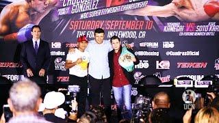 Roman Gonzalez vs Carlos Cuadras Press Conference Highlights - UCN EXCLUSIVE