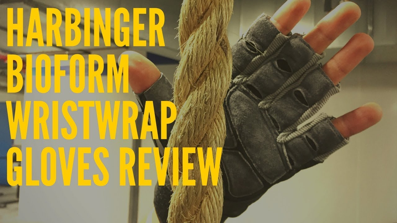 Harbinger Mens Pro Wrist Wrap Weightlifting Gloves