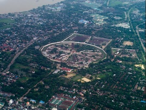 Notorious Insein Prison Aerial View Yangon Myanmar