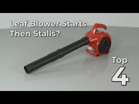 "Thumbnail for video ""Leaf Blower Starts Then Stalls? Leaf Blower Troubleshooting"""