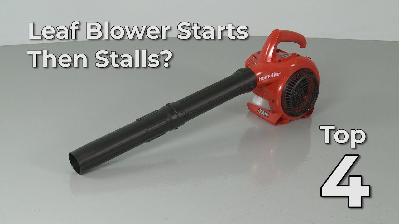 Top Reasons Leaf Blower Starts Then Stalls Leaf Blower