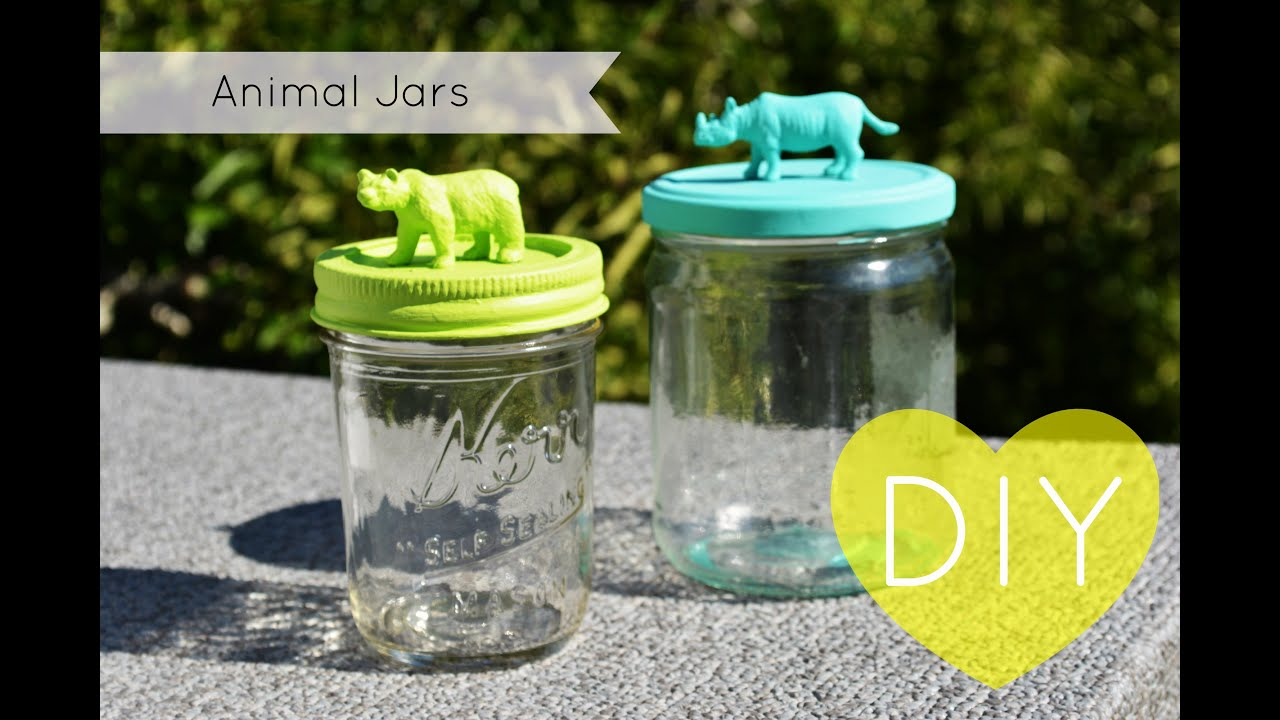 Superb Mason Jar Diy Part - 10: DIY: Animal Mason Jars - YouTube