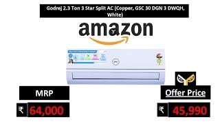 Godrej 2.3 Ton 3 Star Split AC (Copper, GSC 30 DGN 3 DWQH, White)