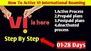 VI International Roaming Plans 2021   VI IR Activation Process   Vodafone Idea Roaming Plans 2021