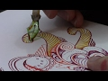 ♻️ 100% recycled dip pen drawing! �
