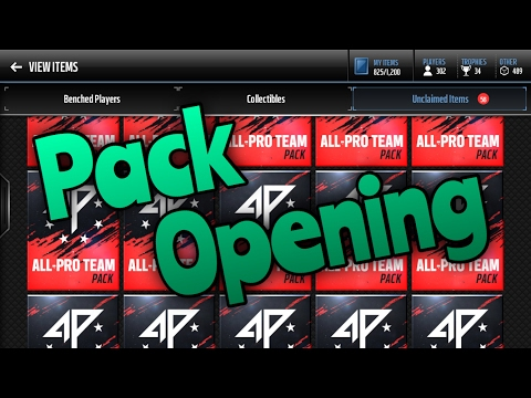 HUGE 100 All-Pro Team Pack Opening!? BEST Pull Ever!! | Madden Mobile