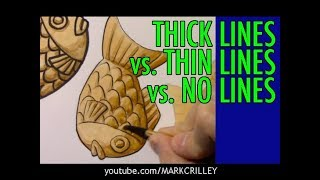 Thick Lines vs. Thin Lines vs. No Lines: A Side-by-Side Comparison