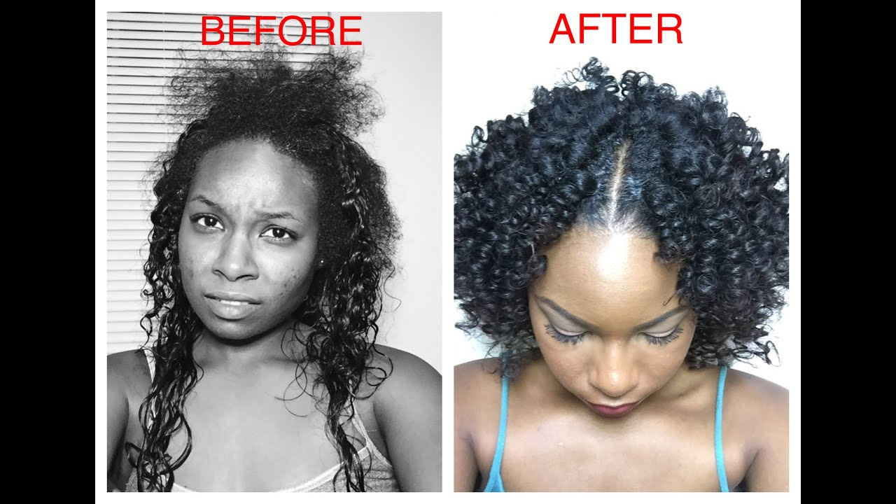 How to blend natural hair leave out without heat youtube pmusecretfo Gallery