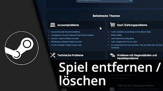 Steam Tutorial | Spiel aus Bibliothek entfernen [Deutsch/HD]