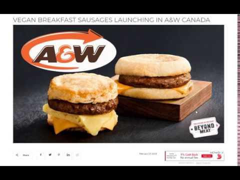 A&W to launch Vegan Breakfast sandwich!!