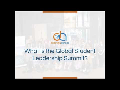 About the Global Student Leadership Summit | 2020 Diversity