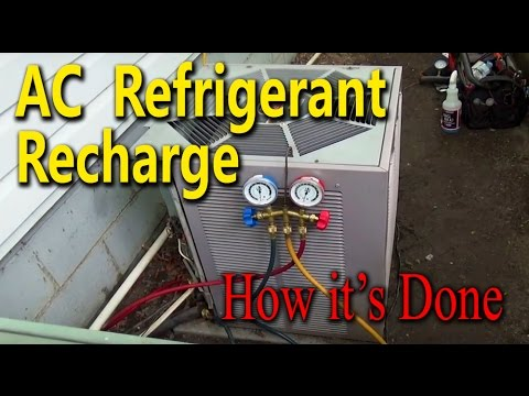 Central Air Conditioner Freon Recharge How its Done YouTube