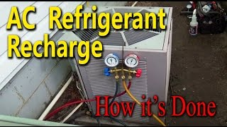 Central Air Conditioner Freon Recharge - How it's Done