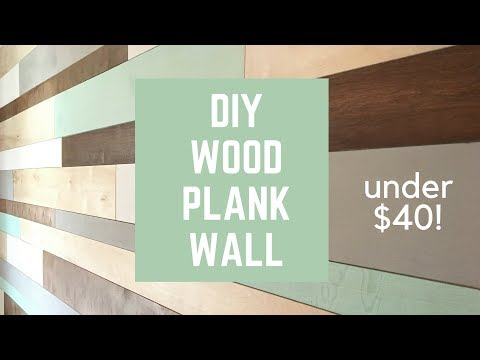 How to Install Wood Plank Wall | Under $40