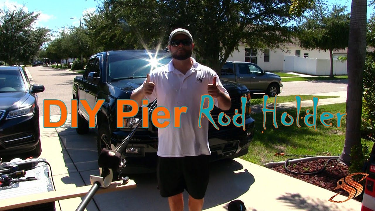 How to make a rod holder for pier fishing diy youtube for Pier fishing rod holder