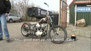 Give Em A Brake!...Start-up  Custom Panhead