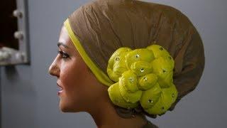 لفات حجاب تشبه كعكة الشعر