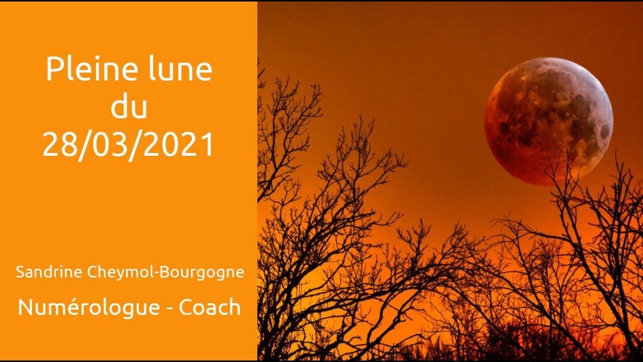 Pleine lune du 28/03/2021 en numérologie