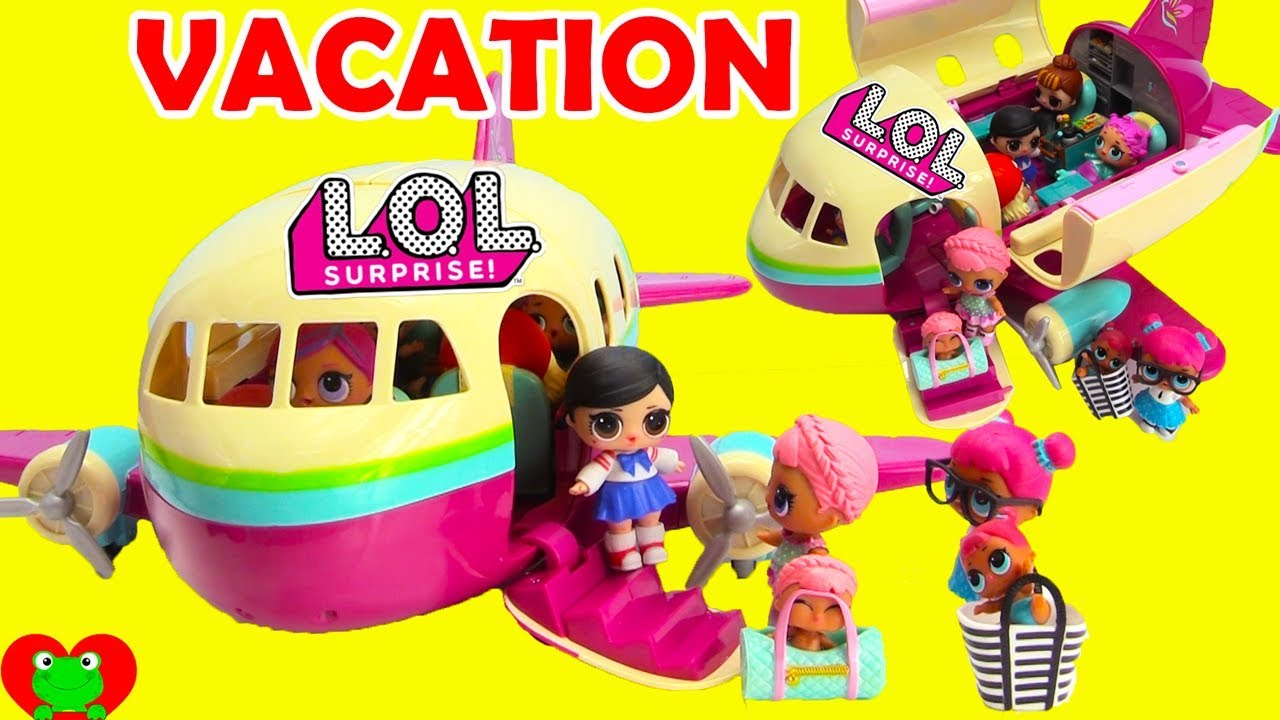 Lol Surprise Dolls Fly Vacation Airplane With Wave 2 Lil