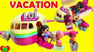 LOL Surprise Dolls Fly Vacation Airplane With Wave 2 Lil Sisters
