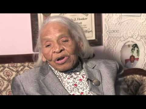 Interview footage of Olivia Hooker, 100, from Murphy and Friends.