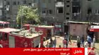 فيديو.. الحماية المدنية تسيطر على حريق سوق الملابس بإمبابة