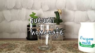 [sueunii daily]홈카페놀이 (다이소컵,일리커…