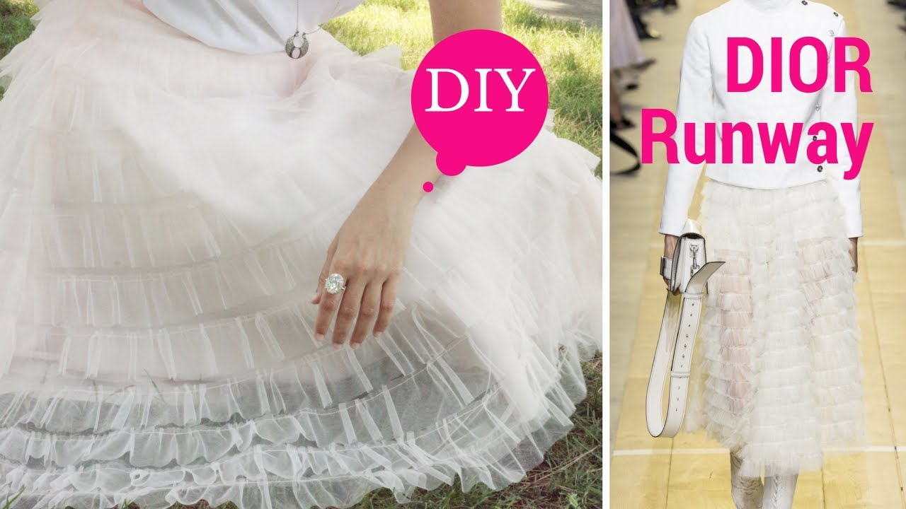 f7650ab8fc DIY Dior frill skirt inspired by christian dior spring 2017 ready to wear