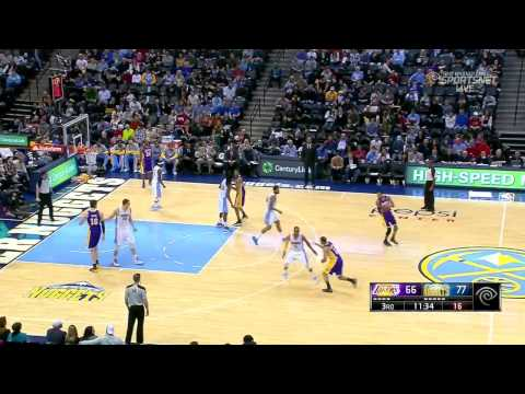 2014-03-07 Lakers vs Nuggets Full Highlights