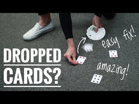 AMAZING way to pick up DROPPED CARDS // TUTORIAL