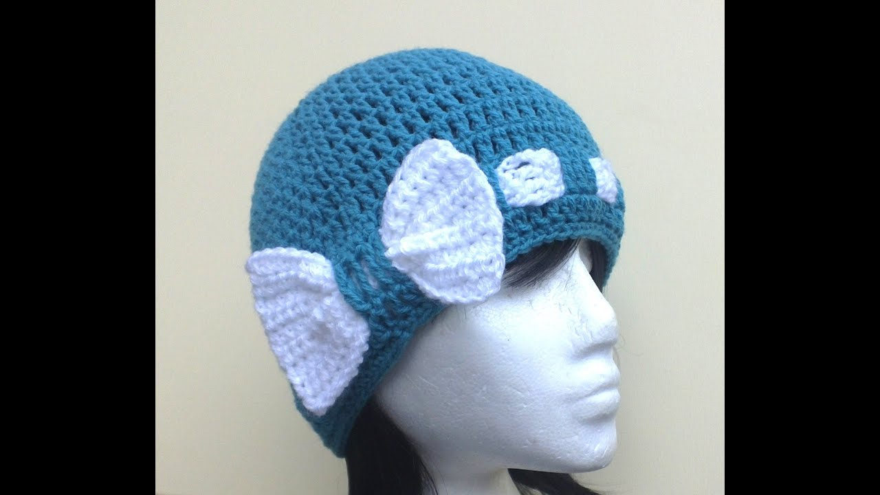 Crochet Tutorial Hat : Bow - Licious Hat Crochet Tutorial - YouTube