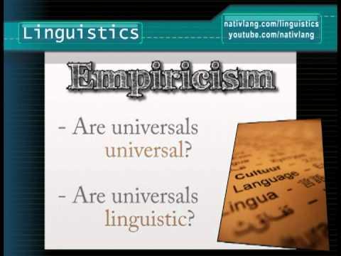 Language: the Nature/Nurture Debate (Nativism vs. Empiricism) -- Linguistics 101